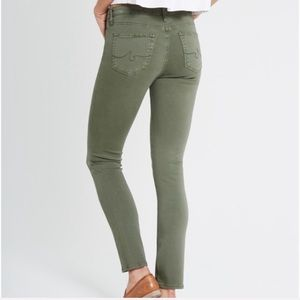 AG Adriano Goldschmied Prima Green Skinny Jeans